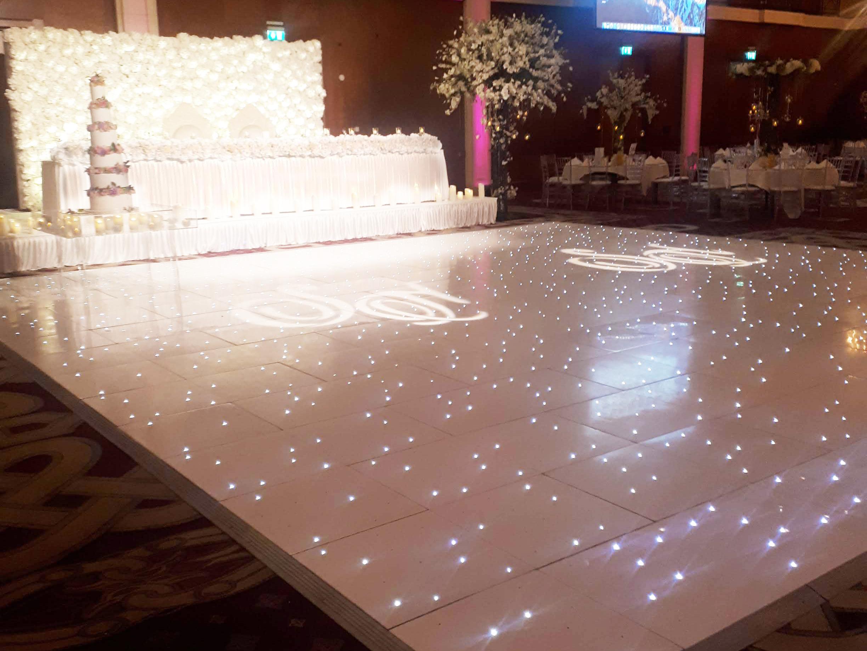 28ft White Starlight Dance Floor