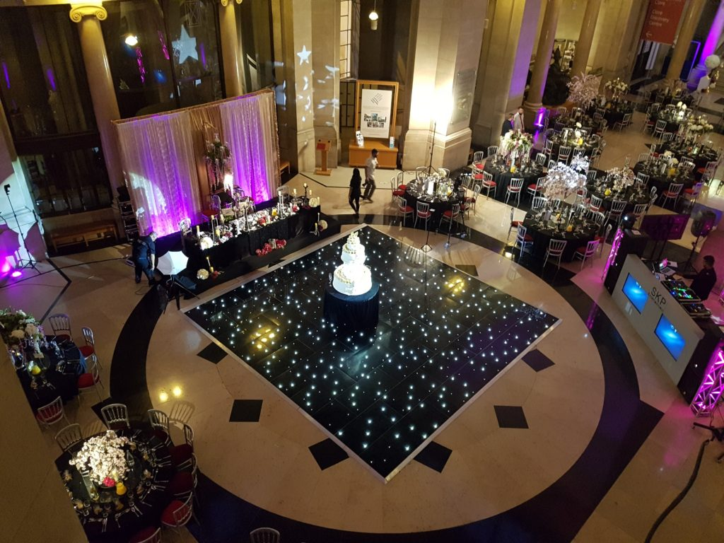 Black LED Dance Floor Hire South Wales