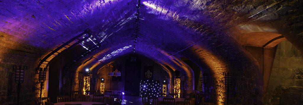 Uplighting Cardiff Castle