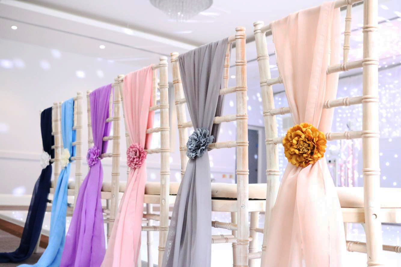 Chiavari Chair Grecian Drape Colour