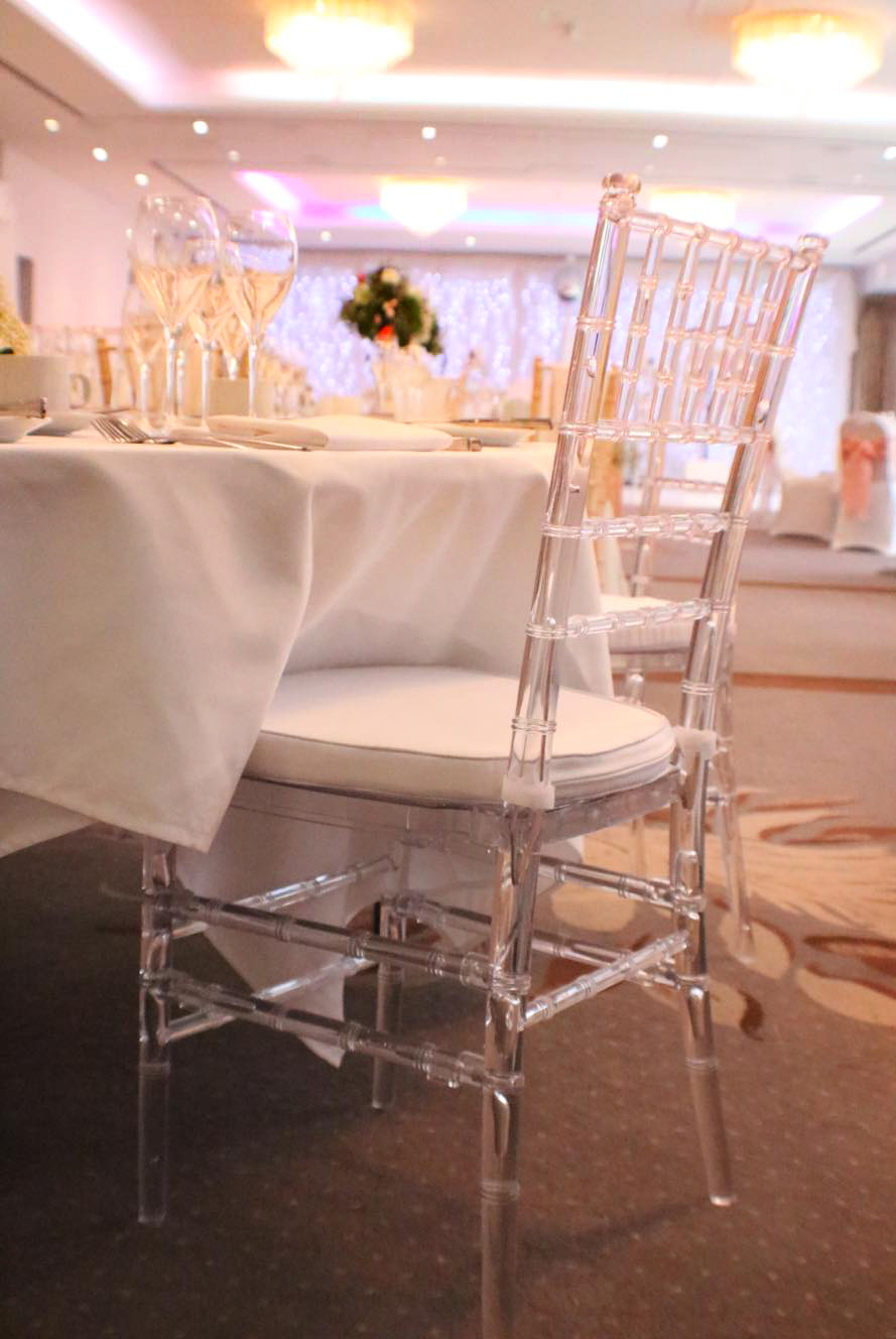 Crystal Chivari Chair Hire South Wales