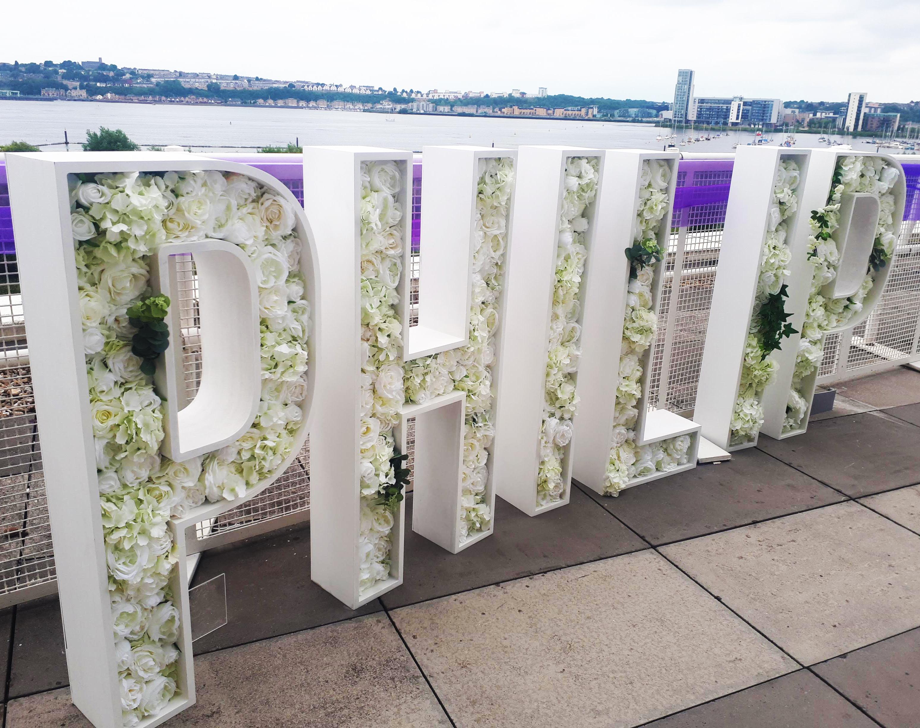 Floral Letters Hire