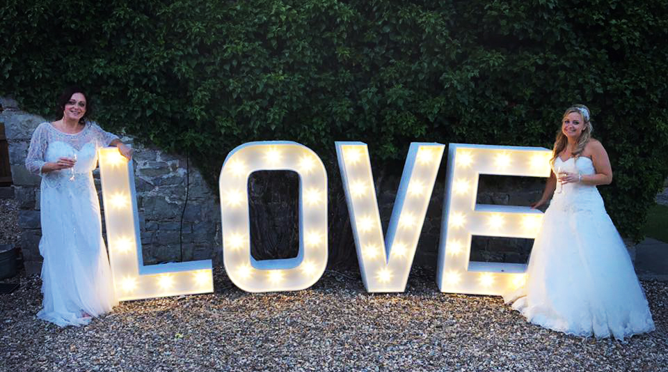 LOVE letter hire South Wales