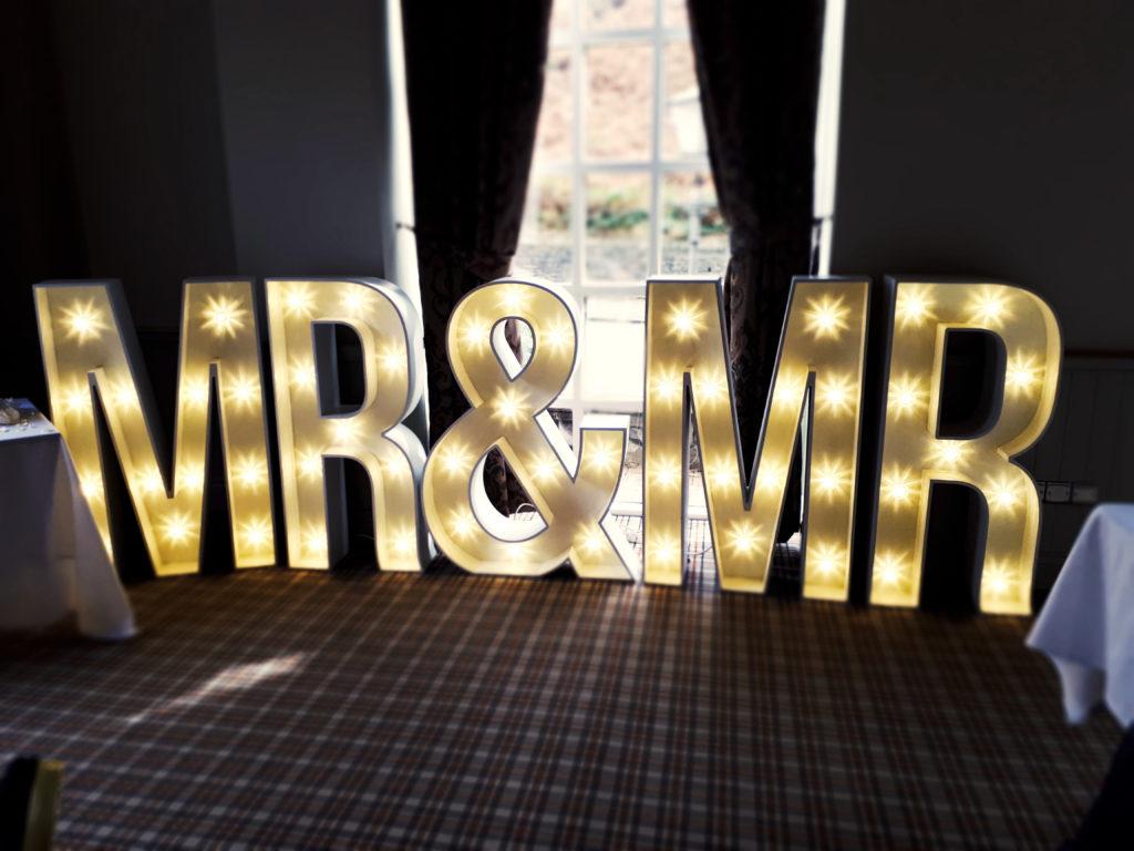 Mr & Mr 4ft letters