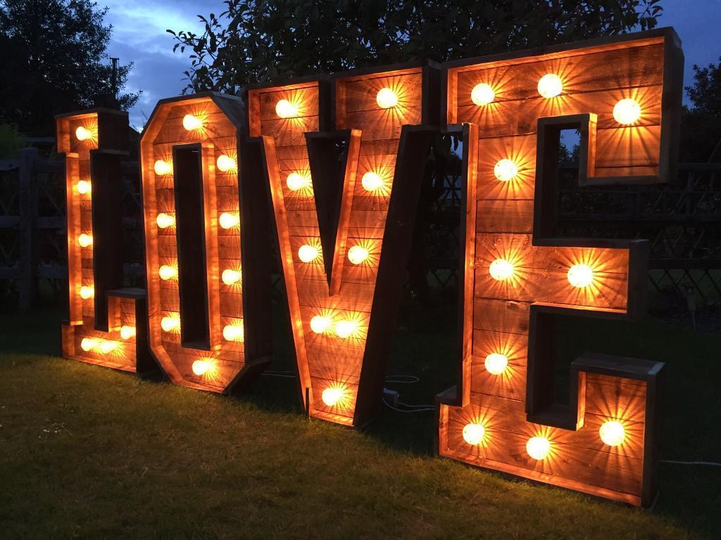 Illuminated Light Up Letters Starlight Events South Wales