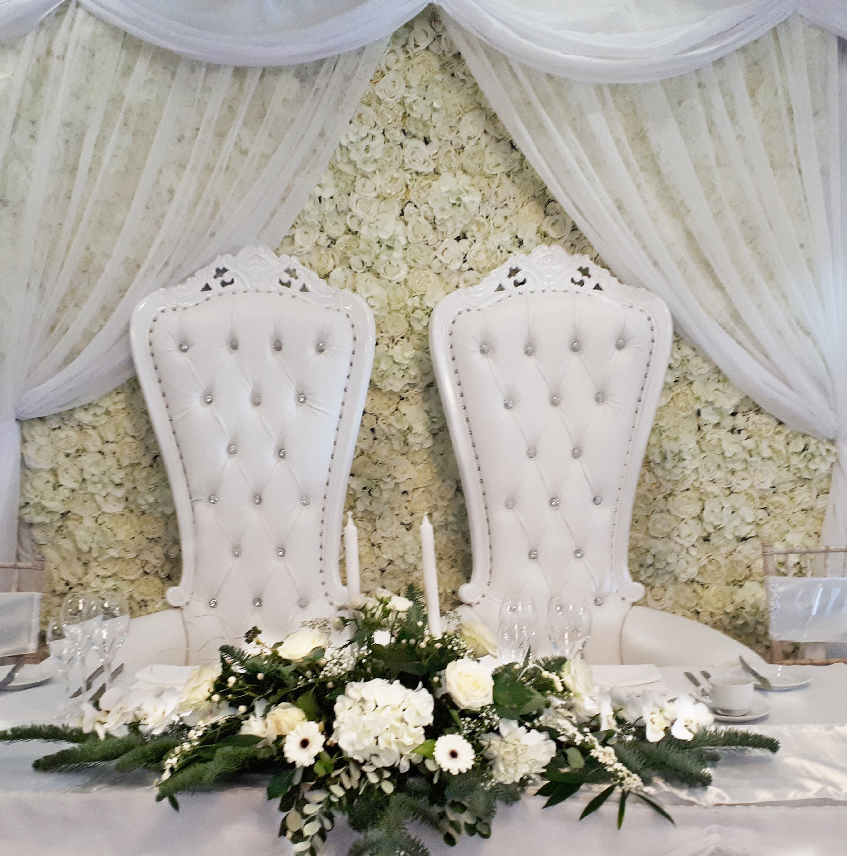 White Wedding Throne Hire South Wales