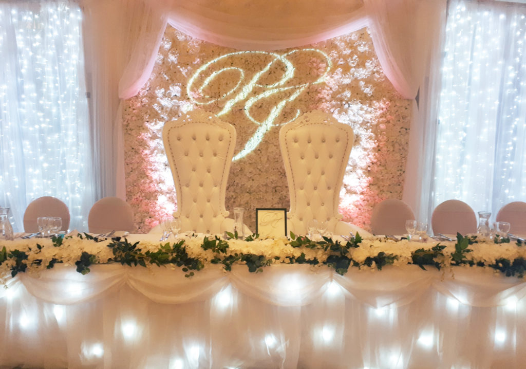 Flower Wall Backdrop With Thrones Starlight Events South