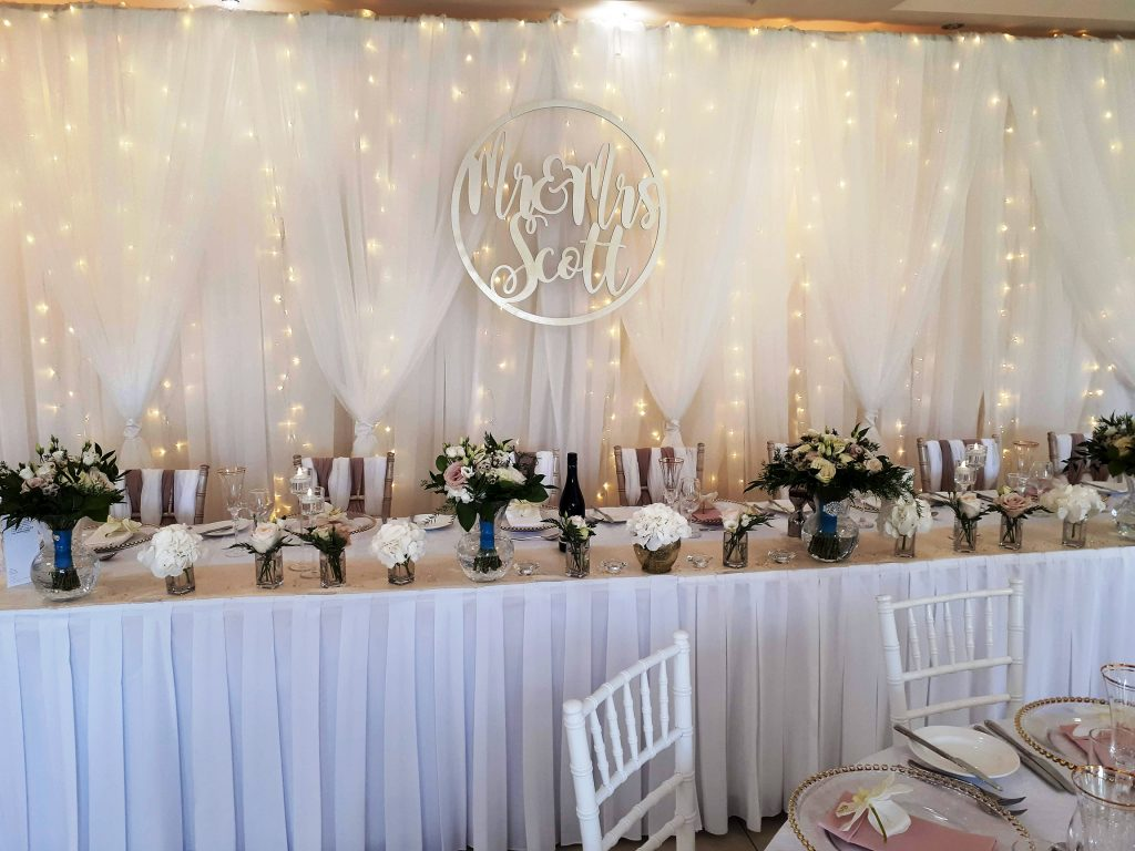 Wedding Backdrop Hire Starlight Events South Wales