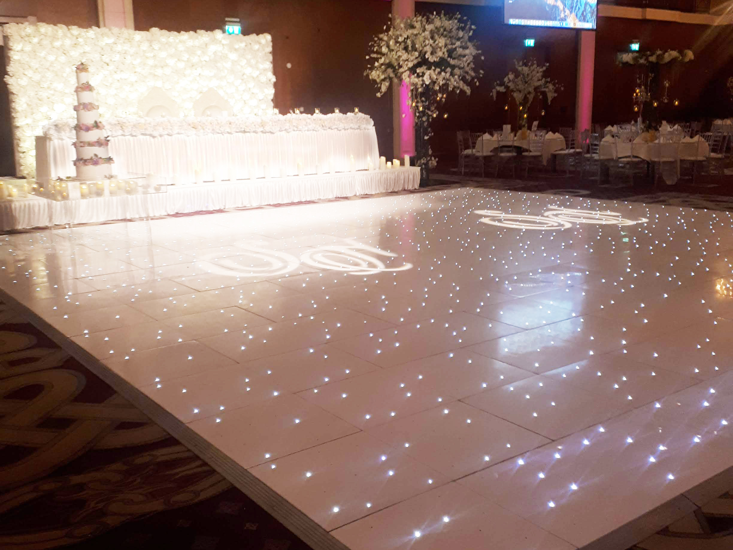 28ft White Starlight Dance Floor