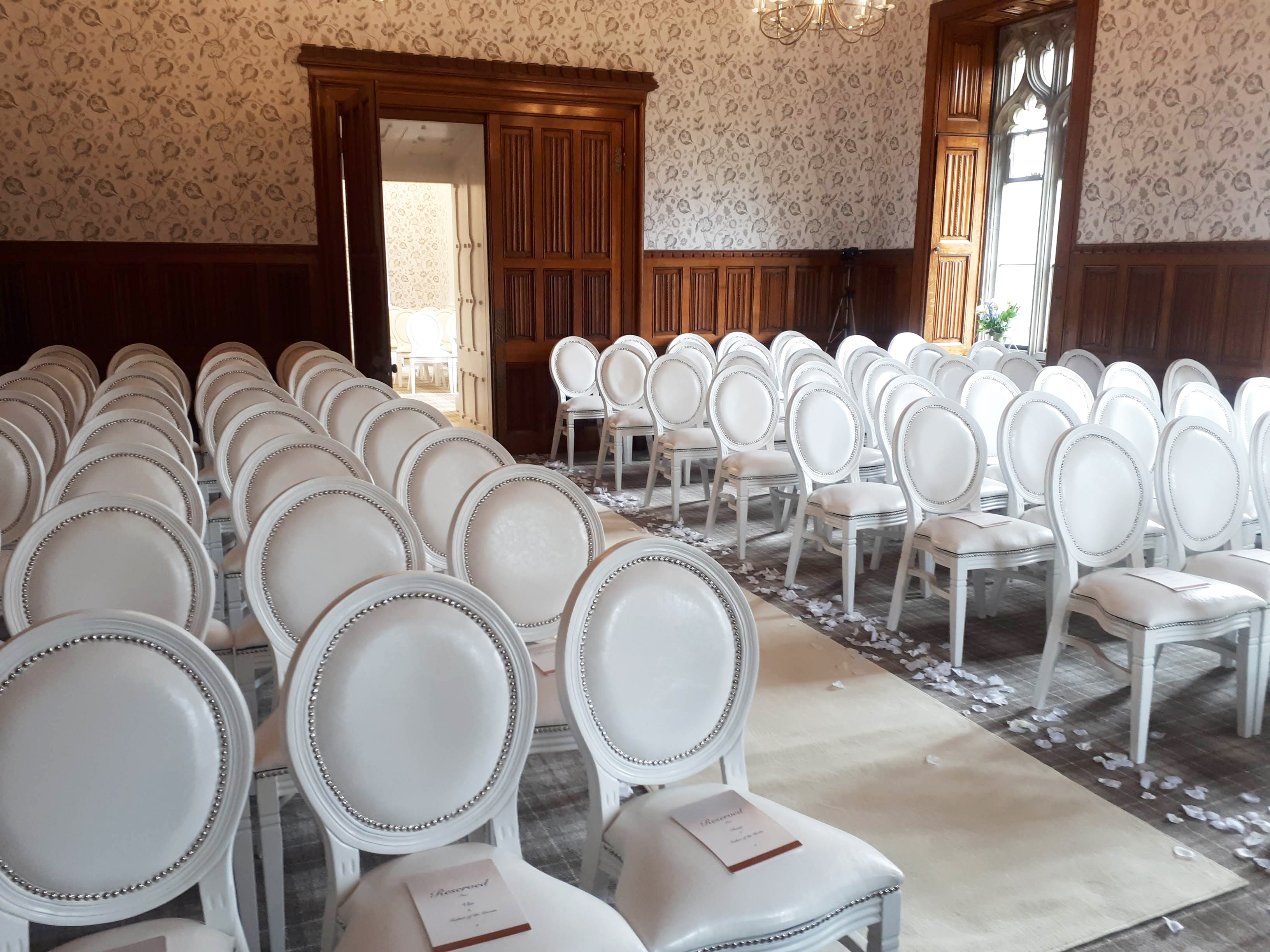 White Louis Chair Hire